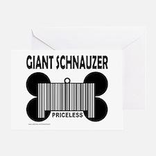 GIANT SCHNAUZER PRICELESS Greeting Card