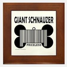 GIANT SCHNAUZER PRICELESS Framed Tile
