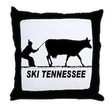 Ski Tennessee Throw Pillow
