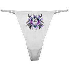 The Flower Skull Violet Classic Thong