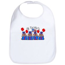 1st 4th of July BEARS Bib