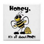 All About Me Bee Tile Coaster