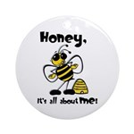 All About Me Bee Ornament (Round)