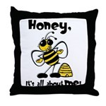 All About Me Bee Throw Pillow