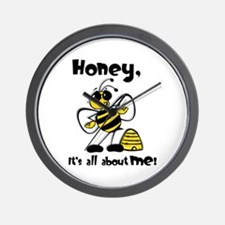 All About Me Bee Wall Clock