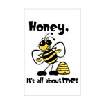All About Me Bee Mini Poster Print