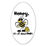 All About Me Bee Oval Sticker