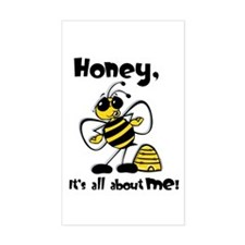 All About Me Bee Rectangle Decal