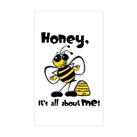 All About Me Bee Rectangle Sticker