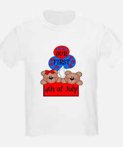 Our First 4th of July TWIN GB T-Shirt