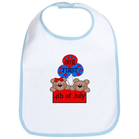 Our First 4th of July TWIN GB Bib