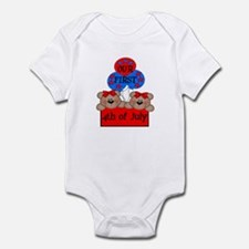 Our First 4th of July TWIN 2G Infant Bodysuit