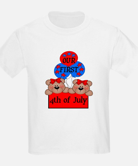 Our First 4th of July TWIN 2G T-Shirt