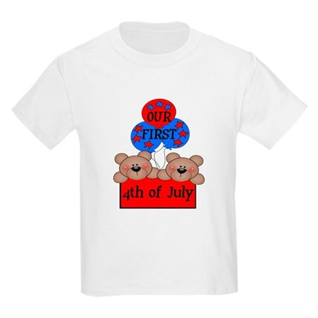 Our First 4th of July TWIN 2B Kids Light T-Shirt