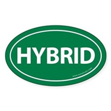 Hybrid Bumper Oval Sticker -Green