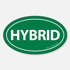 Hybrid Bumper Oval Sticker -Green