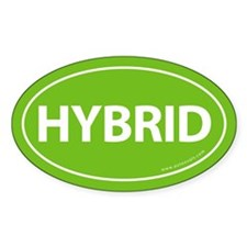 Hybrid Bumper Oval Sticker -Calypso Green