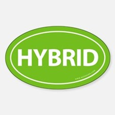 Hybrid Bumper Oval Sticker -Calypso Green
