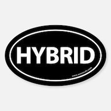 Hybrid Bumper Sticker Traditional Black (Oval)