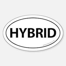 Hybrid Bumper Sticker Traditional White (Oval)