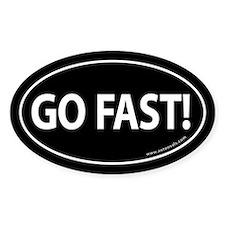 Go Fast Auto Bumper Oval Sticker -Black