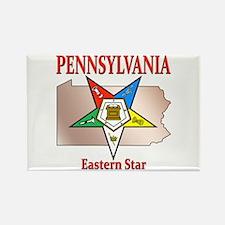 Pennsylvania Eastern Star Rectangle Magnet (10 pac
