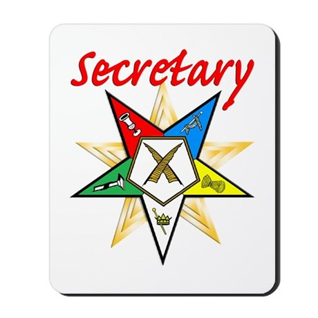 Eastern Star Secretary Items Mousepad