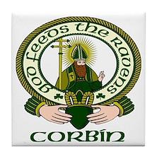 Corbin Clan Motto Tile Coaster