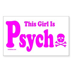 THIS GIRL IS PSYCHO Rectangle Decal