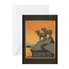 The National Parks Preserve W Greeting Cards (Pk o