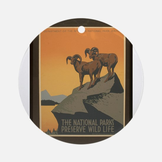 The National Parks Preserve W Ornament (Round)