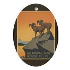The National Parks Preserve W Oval Ornament