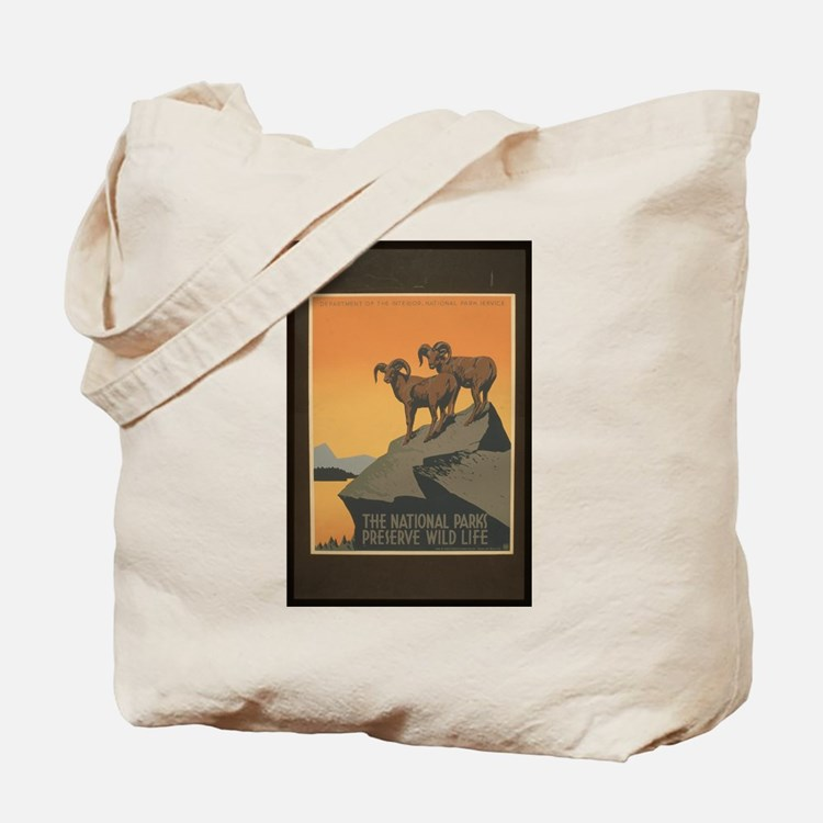 The National Parks Preserve W Tote Bag