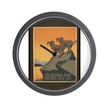 The National Parks Preserve W Wall Clock