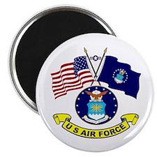 USAF-USA Flags Magnet