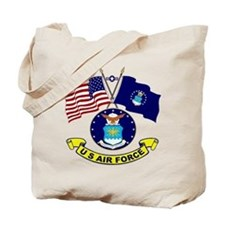 USAF-USA Flags Tote Bag