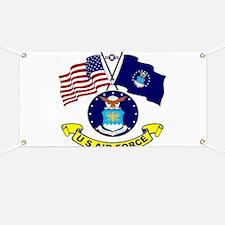 USAF-USA Flags Banner