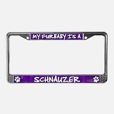 Furbaby Schnauzer License Plate Frame