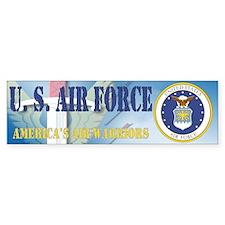 Air Warrior Coat of Arms Bumper Bumper Sticker