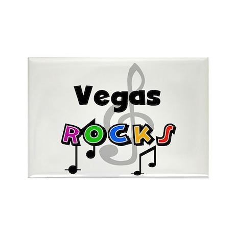 Vegas Rocks Rectangle Magnet
