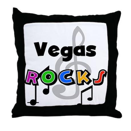 Vegas Rocks Throw Pillow
