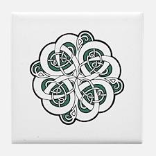 CELTIC37_GREEN Tile Coaster
