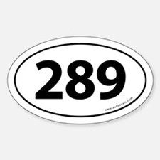 289 Auto Bumper Oval Sticker -White