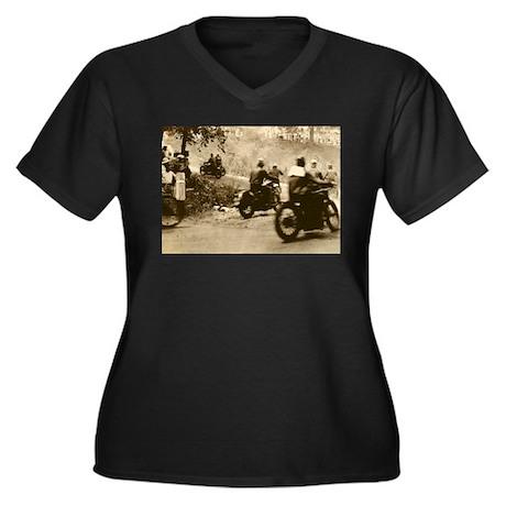 Vintage 200-mile TT Women's Plus Size V-Neck Dark