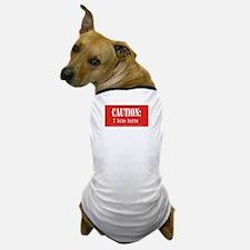 Caution: I bite butts Dog T-Shirt