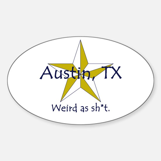 Austin is Weird Oval Decal