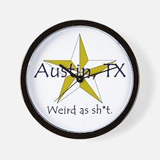 Austin is Weird Wall Clock