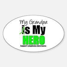 Lymphoma Hero (Grandpa) Oval Sticker (10 pk)