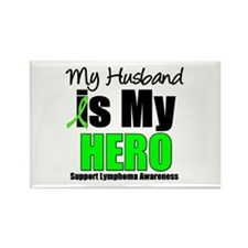 Lymphoma Hero (Husband) Rectangle Magnet