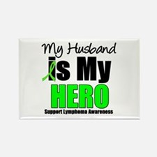 Lymphoma Hero (Husband) Rectangle Magnet